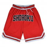 Shohoku Shorts Red White