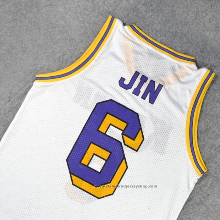 Kainan Jin 6 Jersey White - slamdunkjerseyshop.com